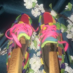 Shoes - CUSTOM WHIMSICAL PATCHWORK LOAFER STYLE SHOE SZ 38